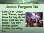 jesus forgave us