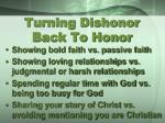 turning dishonor back to honor