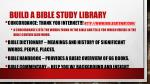 build a bible study library