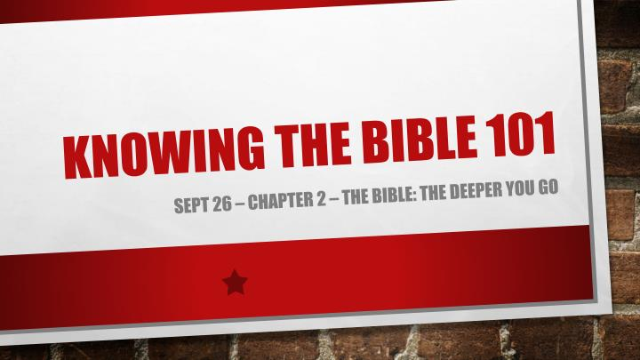 knowing the bible 101 n.