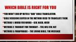 which bible is right for you