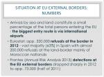 situation at eu external borders numbers