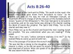 acts 8 26 40