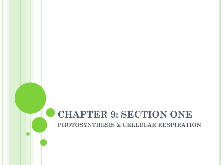 chapter 9 section one n.