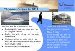 thomson cruises in 2011