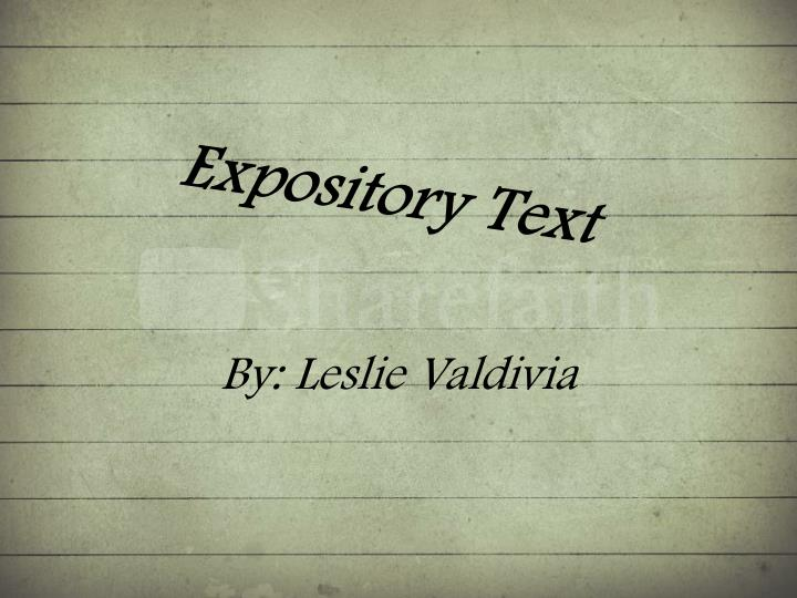 expository text n.
