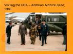 visiting the usa andrews airforce base 1983
