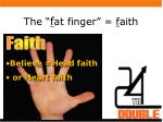 the f at finger f aith