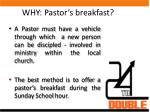 why pastor s breakfast