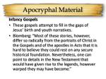 apocryphal material