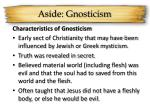aside gnosticism