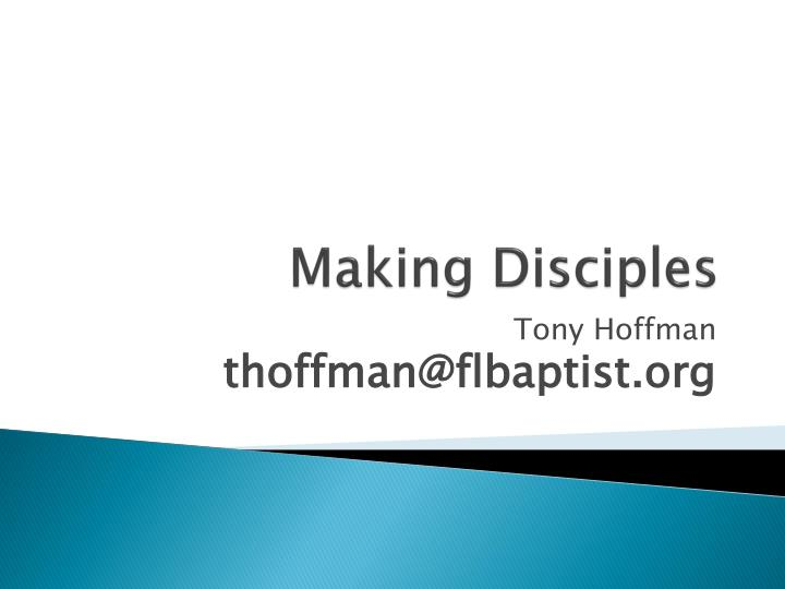 making disciples n.