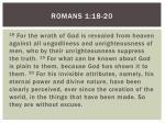 romans 1 18 20