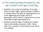 2 the understanding of symbol as not sign symbol is the sign of nothing