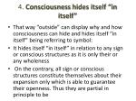 4 consciousness hides itself in itself