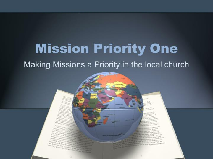 mission priority one n.