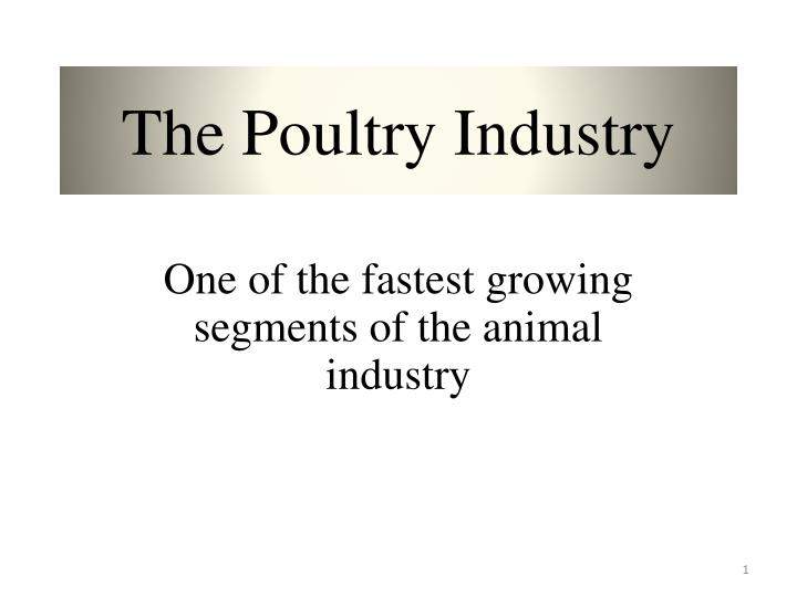 the poultry industry n.