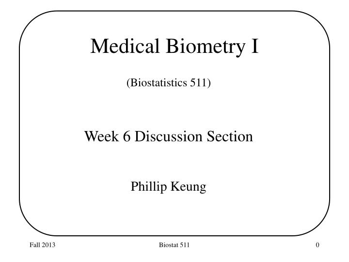 medical biometry i n.