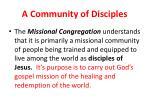 a community of disciples