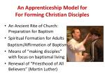 an apprenticeship model for for forming christian disciples