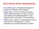 short history of the catechumenate