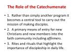 the role of the catechumenate