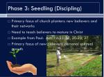 phase 3 seedling discipling