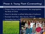 phase 4 young plant covenanting