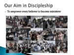 our aim in discipleship