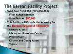 the berean facility project