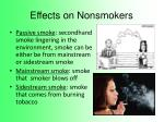 effects on nonsmokers