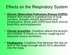effects on the respiratory system