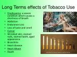 long terms effects of tobacco use