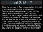 joel 2 15 171