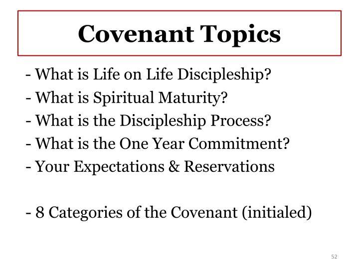 Covenant Topics