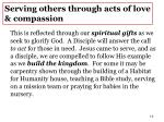 serving others through acts of love compassion