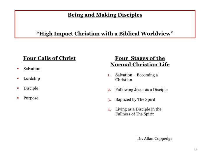Being and Making Disciples