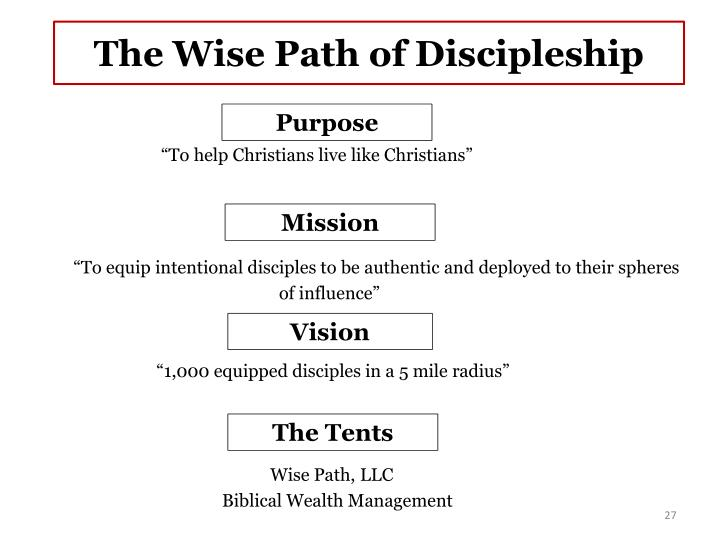 The Wise Path of Discipleship