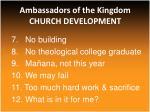 ambassadors of the kingdom church development5