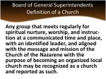 board of general superintendents definition of a church