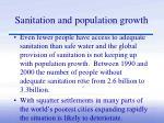 sanitation and population growth