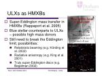 ulxs as hmxbs