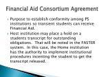 financial aid consortium agreement