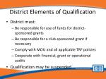 district elements of qualification