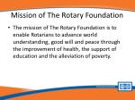 mission of the rotary foundation