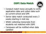 ospi data match