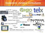 equipment vendors consultants
