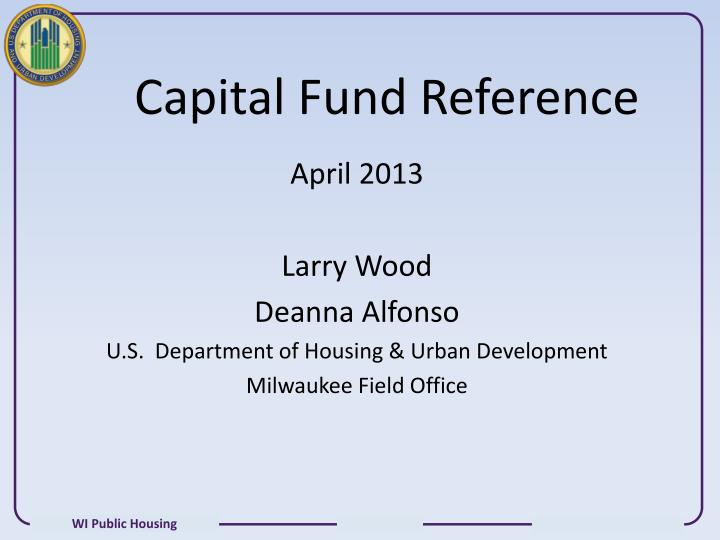 capital fund reference n.