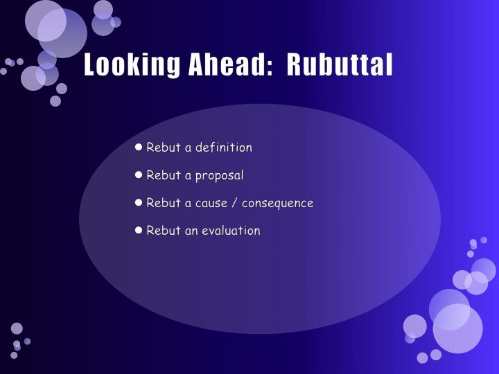 looking ahead rubuttal n.