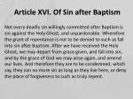 article xvi of sin after baptism